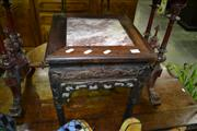 Sale 8093 - Lot 1346 - Oriental Occasional table with Marble Top