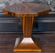 Sale 8222 - Lot 14 - A Deco period octagonal occasional table, H 55, W 59, Diameter 60cm Film Provenance; Australia, 2008