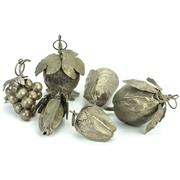 Sale 8390A - Lot 46 - Quantity of Silver Plated Fruit Shaped Baubles (6)