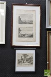 Sale 8468 - Lot 2004 - 2 Original Copperplate Engravings