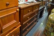 Sale 8489 - Lot 1047 - Pine Chest of Five Drawers