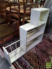 Sale 8532 - Lot 1083 - White Painted Timber Stepside Bookshelf