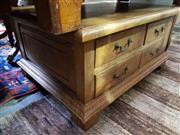 Sale 8740 - Lot 1313 - Timber Coffee Table with Eight Drawers