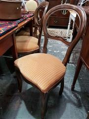 Sale 8740 - Lot 1613 - Set of Six Timber Dining Chairs with Balloon Backs