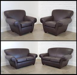 Sale 9174 - Lot 1108 - Moran four piece lounge suite incl. pair of two seaters & pair of armchairs (h:87 x w:160 x d:85cm)