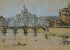 Sale 3770 - Lot 42 - JANET CUMBRAE-STEWART (1883 - 1960) - Rome from the Tiber