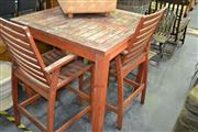 Sale 8066 - Lot 1045 - Outdoor Table and 2 Barstools