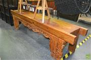 Sale 8257 - Lot 1017 - Carved Oriental Bench