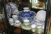 Sale 8256 - Lot 90 - Queen Anne Trios with Other Ceramics incl Blue & White Wares