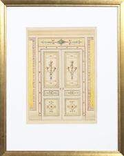 Sale 8298 - Lot 41 - Antique Italian Architectural study - The Ballroom Doors