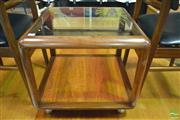 Sale 8364 - Lot 1039 - G-Plan Cube Coffee Table with Glass Top