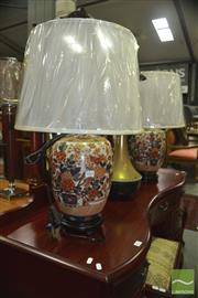Sale 8341 - Lot 1063 - Pair of Spanish Monarchs Collection Table Lamps (4405)