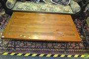 Sale 8380 - Lot 1027 - Iron Base Timber Top Coffee Table
