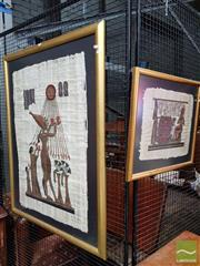 Sale 8491 - Lot 2082 - Two Papyrus Pictures