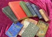 Sale 8539M - Lot 282 - Box of mostly good cloth-cover books incl First Edition Tobruk by Chester Wilmot, 1944, James Grant, Jack Manly. London: Routled...