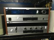 Sale 8759 - Lot 2176 - Leak 2300 Turner & Leak 2100 Amplifier in Timber Finish Cabinets (2)