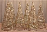 Sale 8984H - Lot 360 - A Group of six conical form Christmas trees, approximate height each 65cm