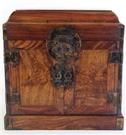 Sale 8989 - Lot 42 - Table-Top Chinese Chest, Guanpixiang, possibly Huanghuali H31.5cm, W32cm, D23cm, (2)