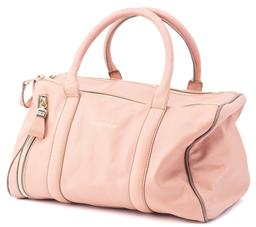 Sale 9149 - Lot 359 - SEE BY CHLOE LEATHER BOWLING BAG, in dusty pink with a side zip front, internal zip up pocket and double zip opening, includes authe...
