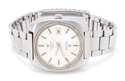 Sale 9177 - Lot 394 - A TISSOT SEASTAR AUTOMATIC WRISTWATCH; ref. 44665-4 in stainless steel with cushion form case round sunburst dial, center seconds, d...