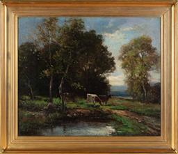 Sale 9190H - Lot 105 - William Ashton (1853-1927), cattle by the river, oil on canvas, signed, 64cm x 77cm