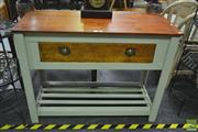 Sale 8257 - Lot 1005 - Tiered Kitchen Cabinet, with single drawer