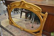 Sale 8267 - Lot 1060 - French Style Carved Gilt Wood Mirror, with oval plate, pierced spandrels & mask head