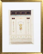 Sale 8298 - Lot 42 - Antique Italian Architectural study - The Ballroom wall
