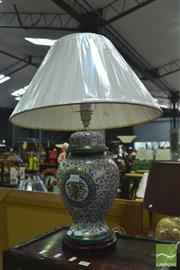 Sale 8328 - Lot 1018 - Oriental Vase Converted To Lamp