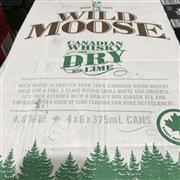 Sale 8801W - Lot 57 - 24x Wold Moose Candaian Whisky & Dry Lime Cans 4.8%, 375ml