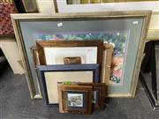 Sale 8888 - Lot 2026 - Group of 7 Assorted Artworks including oil and watercolours by vaarious artists