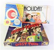 Sale 8944 - Lot 11 - Three Vintage board games incl. holiday game, ghost train