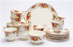 Sale 9170H - Lot 23 - A Royal Albert Old Country Rose tea service for six