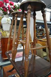 Sale 8066 - Lot 1087 - Pair of Timber Barstools