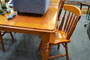 Sale 8156 - Lot 1096 - Timber Dining Setting incl. Table & 4 Chairs