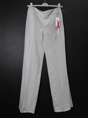 Sale 8514H - Lot 84 - Armani Light Grey Linen-Look Pants - UK size 10
