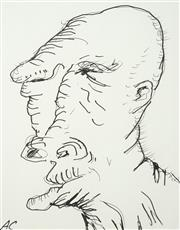 Sale 8538 - Lot 577 - Adam Cullen (1965 - 2012) - Portrait of an Old Man 32 x 25cm