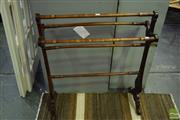 Sale 8532 - Lot 1144 - Carved Timber Towel Rail