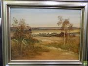 Sale 8561 - Lot 2056 - Norman Robbins - Brownscape frame size: 60 x 74.5cm