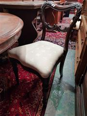 Sale 8831 - Lot 1065A - Pair of Carved Mahogany Chairs with serpentine front & fluted legs to front