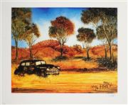 Sale 8941 - Lot 2004 - Kevin Charles (Pro) Hart (1928 - 2006) - Police Car, Collins 46.5 x 55.5 cm (sheet size)