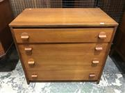 Sale 9039 - Lot 1087 - Stag Teak Chest of 4 Drawers (H90 x W65 x D35cm)