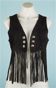 Sale 9071F - Lot 92 - A BOHO LEX LOCIE FRINGED SUEDE VEST with tassels size M  missing tie