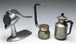 Sale 9156 - Lot 295 - Collection of vintage kitchen wares inc juicer, coffee grinder and a kettle