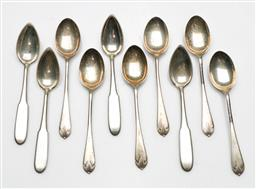 Sale 9209 - Lot 5 - A collection of ten silver spoons incl 5 polish (800) and 5 sterling silver examples