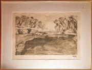 Sale 7962B - Lot 43 - Pollak  Converging Trees, etching 15/18 signed lower right
