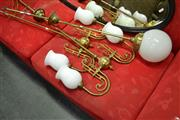 Sale 8066 - Lot 1078 - Pair of Brass hanging Light Fittings and another