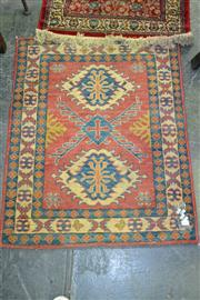Sale 8129 - Lot 1039 - Afghan Hand Knotted Kazak (104 x 84cm)