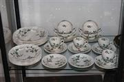Sale 8160 - Lot 86 - Copeland Spode Sylvan Dinner Setting for 6 (2 cups missing)