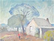 Sale 8301 - Lot 567 - Lloyd Rees (1895 - 1988) - The Settlers Home, Mount Rankin, 1976 30 x 40cm